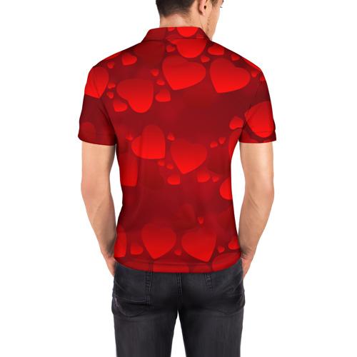 Мужская рубашка поло 3D Лиза - ты моя судьба Фото 01