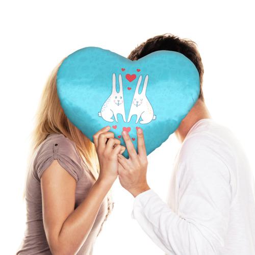 Подушка 3D сердце  Фото 03, Зай и зая