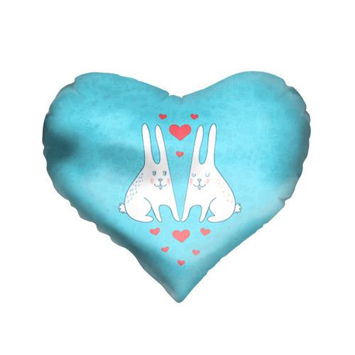 Подушка 3D сердце  Фото 01, Зай и зая
