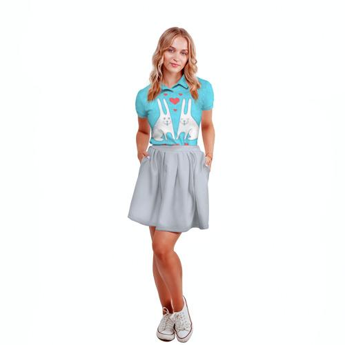 Женская рубашка поло 3D  Фото 04, Зай и зая
