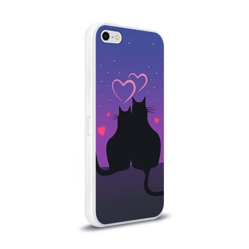 Чехол для iPhone 5/5S глянцевый Котик и киска Фото 01