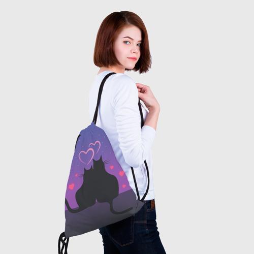 Рюкзак-мешок 3D Котик и киска Фото 01