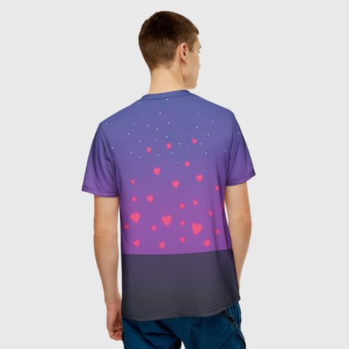 Мужская футболка 3D Котик и киска Фото 01
