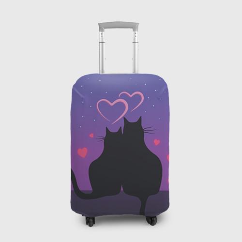 Чехол для чемодана 3D Котик и киска Фото 01
