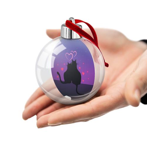 Ёлочный шар Котик и киска Фото 01