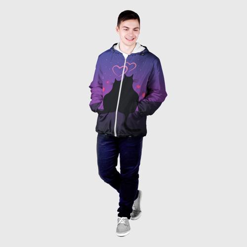 Мужская куртка 3D  Фото 03, Котик и киска