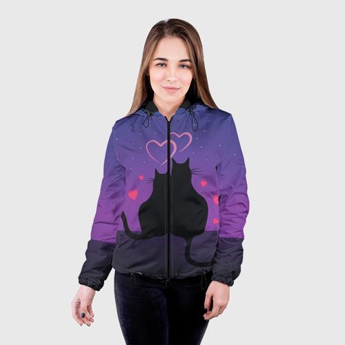 Женская куртка 3D Котик и киска Фото 01