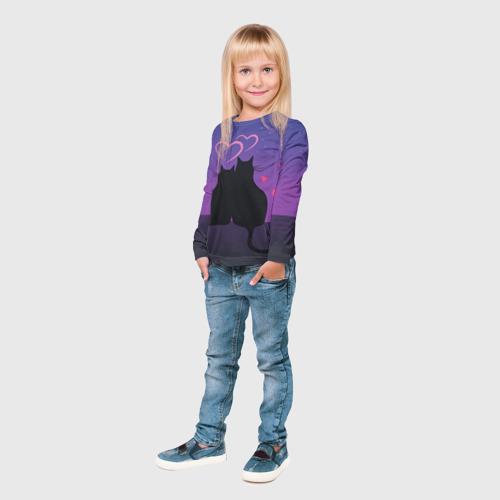 Детский лонгслив 3D  Фото 04, Котик и киска