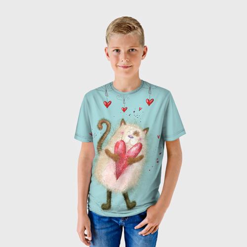 Детская футболка 3D Котик