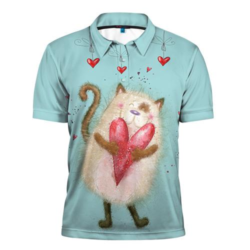 Мужская рубашка поло 3D  Фото 01, Котик