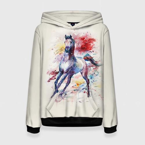 Женская толстовка 3D Лошадь. Арт 1 Фото 01