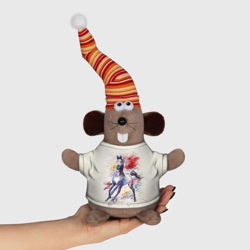 Мышь в футболке 3D Лошадь. Арт 1 Фото 01