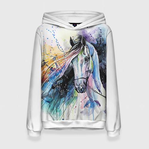 Женская толстовка 3D Лошадь. Арт 3 Фото 01