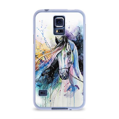 Чехол для Samsung Galaxy S5 силиконовый  Фото 01, Лошадь. Арт 3