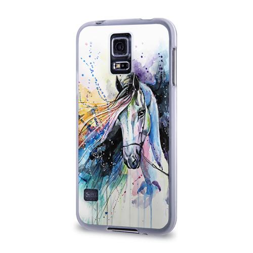 Чехол для Samsung Galaxy S5 силиконовый  Фото 03, Лошадь. Арт 3