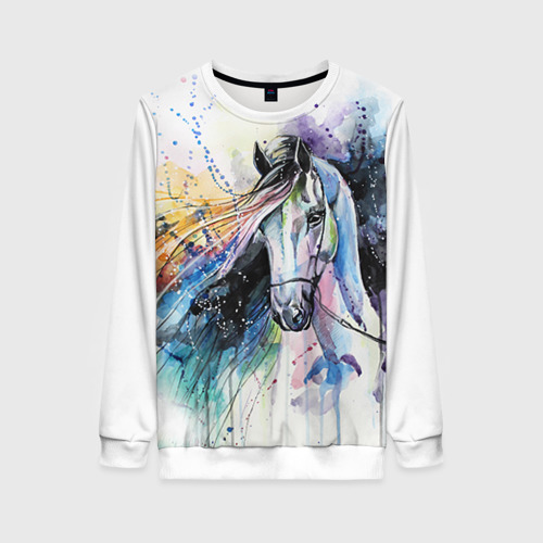 Женский свитшот 3D Лошадь. Арт 3 Фото 01