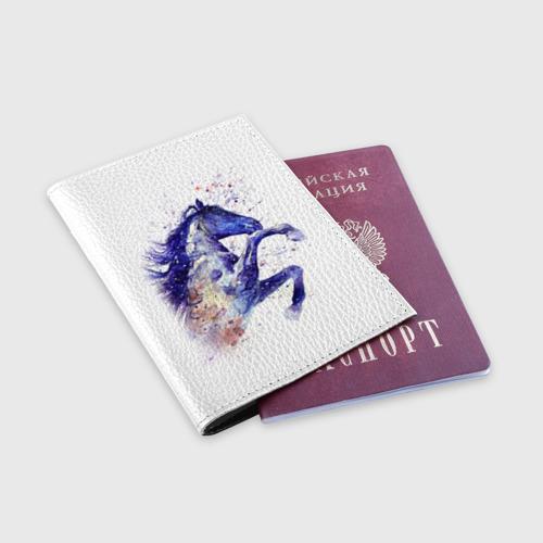 Обложка для паспорта матовая кожа  Фото 03, Лошадь. Арт 4