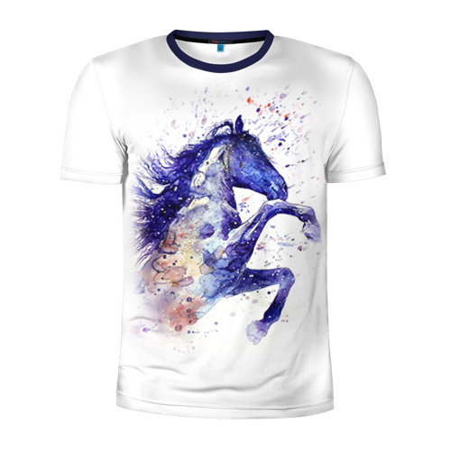 Мужская футболка 3D спортивная  Фото 01, Лошадь. Арт 4