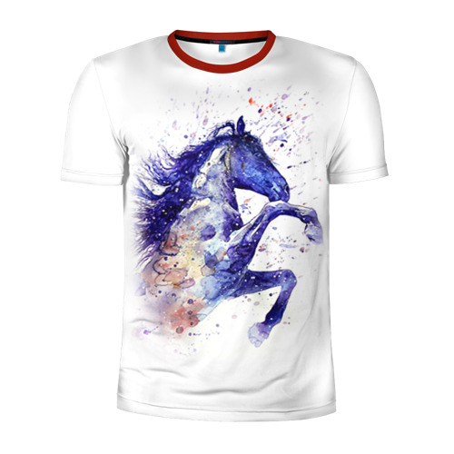 Мужская футболка 3D спортивная Лошадь. Арт 4 Фото 01