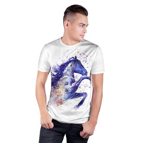 Мужская футболка 3D спортивная  Фото 03, Лошадь. Арт 4