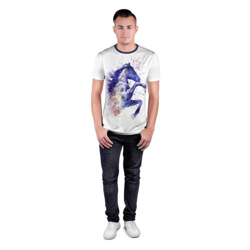Мужская футболка 3D спортивная  Фото 04, Лошадь. Арт 4