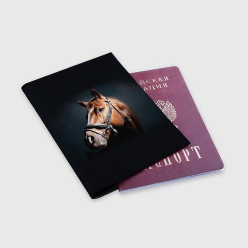 Обложка для паспорта матовая кожа  Фото 03, Лошадь 1