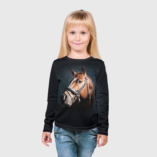Детский лонгслив 3D  Фото 03, Лошадь 1