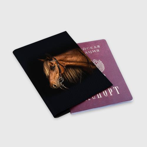 Обложка для паспорта матовая кожа  Фото 03, Лошадь 2