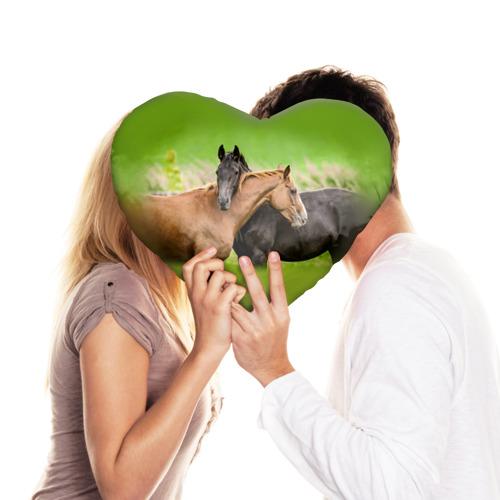 Подушка 3D сердце  Фото 03, Лошади 2