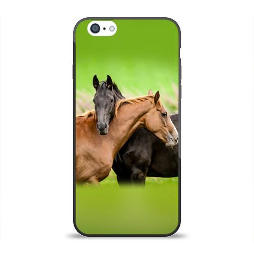 Чехол для Apple iPhone 6 силиконовый глянцевый  Фото 01, Лошади 2