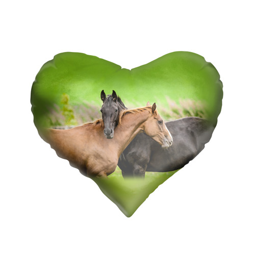 Подушка 3D сердце  Фото 01, Лошади 2