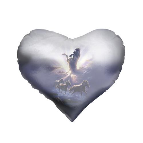 Подушка 3D сердце  Фото 01, Лошади 3