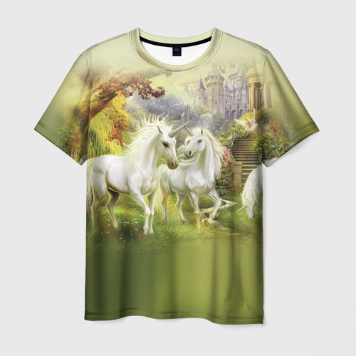 Мужская футболка 3D Единороги