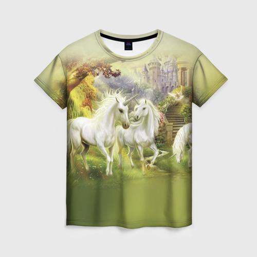 Женская футболка 3D Единороги
