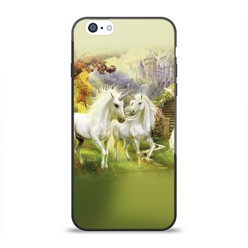 Чехол для Apple iPhone 6 силиконовый глянцевый  Фото 01, Единороги