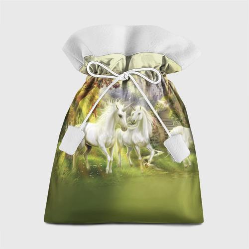 Подарочный 3D мешок Единороги Фото 01