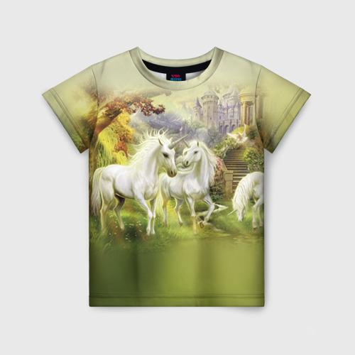 Детская футболка 3D Единороги