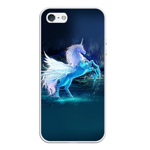 Чехол для Apple iPhone 5/5S силиконовый Единорог от Всемайки