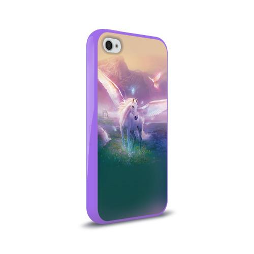 Чехол для Apple iPhone 4/4S силиконовый глянцевый Пегас Фото 01