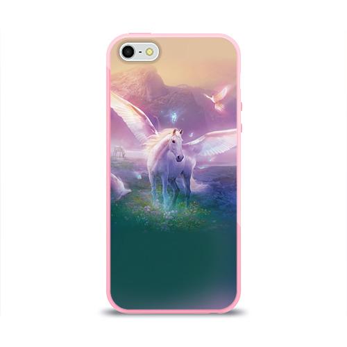 Чехол для Apple iPhone 5/5S силиконовый глянцевый Пегас Фото 01