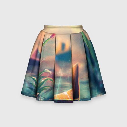 Детская юбка-солнце 3D Бумажный кораблик