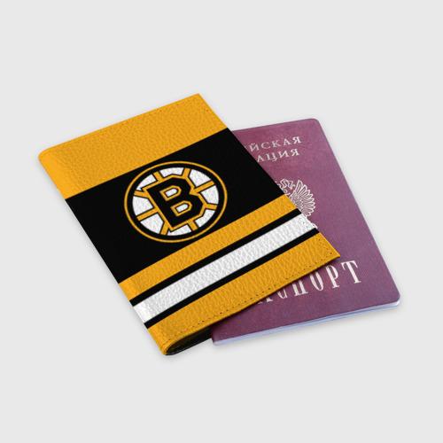 Обложка для паспорта матовая кожа  Фото 03, Boston Bruins