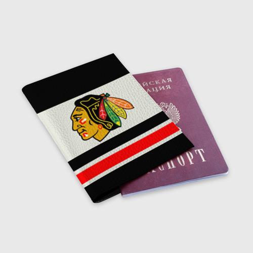Обложка для паспорта матовая кожа  Фото 03, Chicago Blackhawks