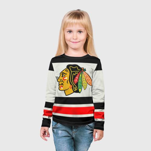 Детский лонгслив 3D  Фото 03, Chicago Blackhawks