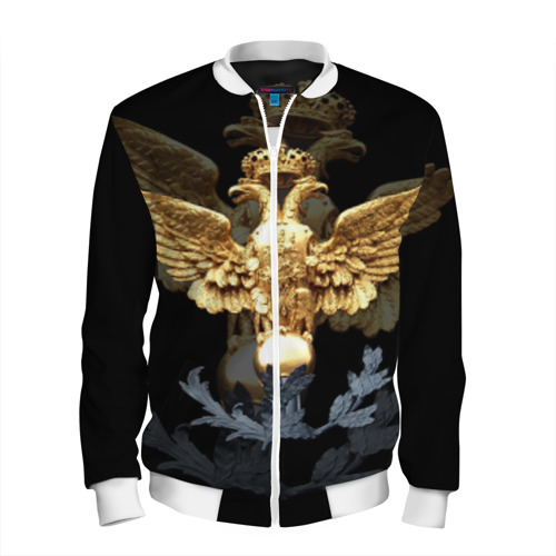 Мужской бомбер 3D Золотой орел