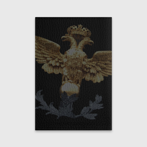 Обложка для паспорта матовая кожа  Фото 02, Золотой орел