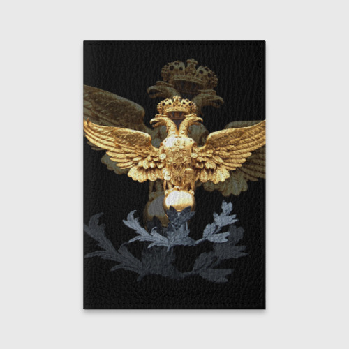 Обложка для паспорта матовая кожа  Фото 01, Золотой орел