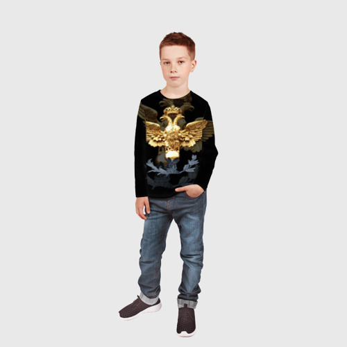 Детский лонгслив 3D  Фото 05, Золотой орел