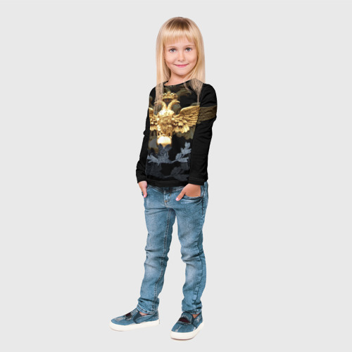 Детский лонгслив 3D  Фото 04, Золотой орел