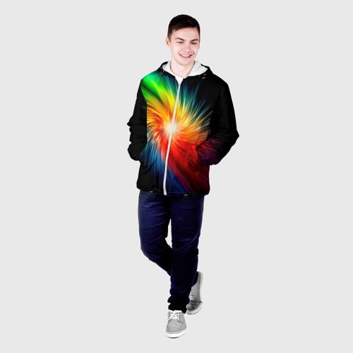 Мужская куртка 3D  Фото 03, Звезда радуга